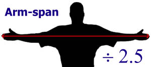 Arm span measurement