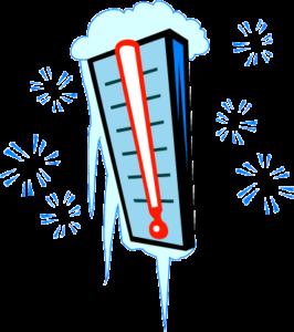 Winter freezing temperature